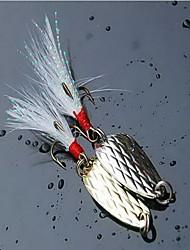 1 pcs Poissons nageur/Leurre dur / Leurre forme de cuillère / leurres de pêche Cuillères Couleurs Aléatoires 2.5 g Once mm pouce,Métal