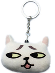 Key Chain Cat Key Chain White Cotton