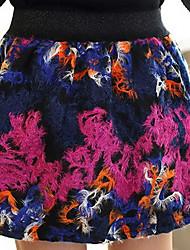 Damen Röcke,A-Linie Geometrisch Regenbogen Tüll,Ausgehen Lässig/Alltäglich Sexy Vintage Street Schick Hohe Hüfthöhe Über dem Knie