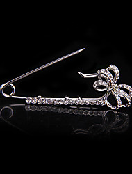 Wedding Style Elegant Silver Plated Rhinestone Brooch