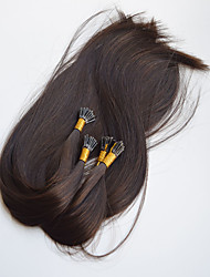 I Tip Fusion Keratin Hair Extension Virgin Hair Double Drawn I tip Hair Extension 18inch dark brown Color Brazilian Human Hair