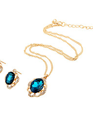 Jewelry 1 Necklace 1 Pair of Earrings Wedding Party Daily Casual 1set Women Navy Green Dark Navy Wedding Gifts