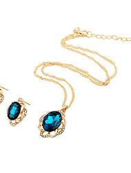 Bijoux 1 Collier / 1 Paire de Boucles d'Oreille Mariage / Soirée / Quotidien / Décontracté 1set Femme Bleu marine / Vert / Bleu Marine