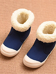 Girl's Boots Winter Comfort Fabric Casual Flat Heel Others Blue Burgundy Others