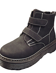 Women's Boots Winter Comfort PU Casual Flat Heel Others Black / Blue / Silver Others