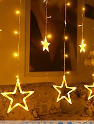 3M 12  Star Lights Christmas Halloween Decorative Lights Festive Strip Lights With  Stars (220V)