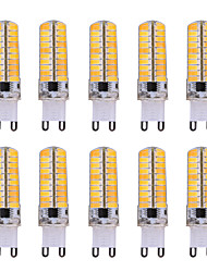 7W G9 Bombillas LED de Mazorca T 80 SMD 5730 500-700 lm Blanco Cálido / Blanco Fresco Decorativa / Regulable V 10 piezas