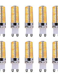 7W G9 Ampoules Maïs LED T 80 SMD 5730 500-700 lm Blanc Chaud / Blanc Froid Gradable / Décorative V 10 pièces
