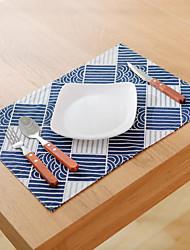 Carré Impression / Avec motifs / Vichy Sets de table , Coton mélangé Matériel Tableau Dceoration / Hôtel Dining Table