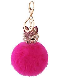 Key Chain Sphere Key Chain Peach Metal / Plush