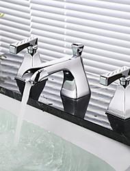 generalizada duas alças três furos em cromo torneira pia do banheiro