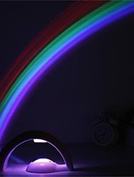 1Pcs  Rainbow Projector Lamps (Powered By 4 Aaa Battery)
