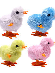 Wind-up Toy Novelty Toy Toys Novelty Chicken Plastic Plush Blue Pink Yellow Gray For Boys For Girls Random Color