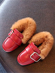 Girls' Loafers & Slip-Ons Winter Moccasin Leatherette Casual Flat Heel