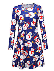 Girl's Print Dress,Cotton Fall Long Sleeve