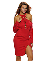 Women's Lift Me Up Red Midi Dress