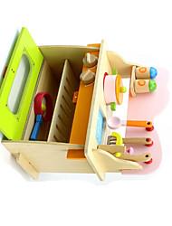 Brinquedos de Faz de Conta Hobbies de Lazer Brinquedos Novidades Quadrangular Madeira Arco-Íris Para Meninos Para Meninas