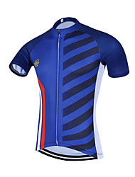 Sports QKI France Cycling Jersey Men's Short Sleeve Bike Breathable / Quick Dry / Anatomic Design / Front Zipper / Back Pocket / Sweat-wicking Jersey