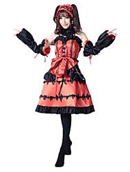 Costumes de Cosplay Cosplay Fête / Célébration Déguisement d'Halloween Couleur Pleine Robe CoiffureHalloween Noël Carnaval Le Jour des