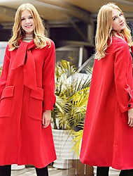 European Grand Prix 2016 fall and winter clothes when Shang Nizi coat Slim temperament long section of a word put on a large woolen coat female