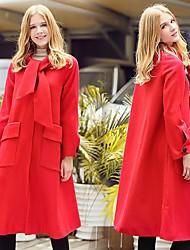 Grand Prix 2016 vêtements d'automne et d'hiver européennes lorsque shang nizi long manteau section tempérament mince d'un mot mis sur un