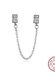 Euramerican Style Popular Fashion Jewelry 925 Sterling Silver Safety Chain Accessories