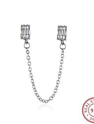 estilo Euramerican moda popular de 925 libras esterlinas acessórios cadeia de segurança de prata