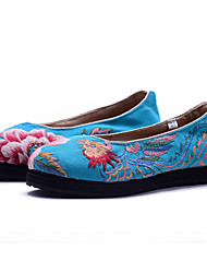 Women's Flats Comfort Fashion Boots Embroidered Shoes Canvas Spring Summer Fall Athletic Casual Outdoor Dress WalkingComfort Fashion