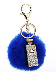 Key Chain Sphere Navy Blue Metal Plush