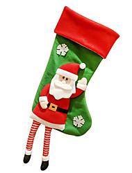 Decoraciones Navideñas Bolsas de regalo Decoración para Celebraciones Navidad Tejido Rojo Verde
