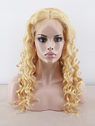 Full Lace Human Virgin Hair Wigs Loose Body Wave Wig Ready To Wear 613 Blonde Human Hair Wigs 14-24inches