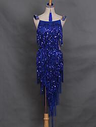 Devrions-nous des robes de danse latine, la robe de spandex de performance féminine