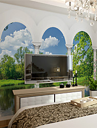 JAMMORY Art Deco Wallpaper Contemporary Wall CoveringCanvas Stereoscopic Large Mural  Roman Lake XL XXL XXXL