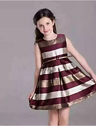 Girl's Casual/Daily Solid Dress,Cotton / Rayon Summer / Spring / Fall Sleeveless