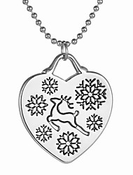 Women's Pendant Necklaces Alloy Heart Heart Bohemian Fashion Silver Jewelry Daily Christmas Gifts 1pc