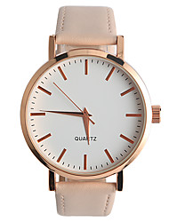 Women's Fashion Watch Quartz / PU Band Casual Beige / Khaki Brand