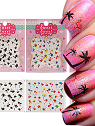 3 Patterns/Sheet Hawaii Palm Tree Nail Art Water Decals  Transfers Stickers