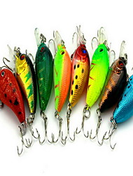 """13 pcs Poissons nageur/Leurre dur leurres de pêche Poissons nageur/Leurre dur Couleurs assorties 5 g/1/6 Once mm/2-1/8"""" pouce,Plastique"""