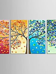 Canvas Set Abstract Floral/Botanical Modern Classic,Four Panels Canvas Vertical Print Wall Decor For Home Decoration