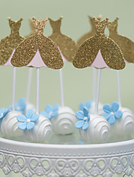 Golden Princess Cake Topper
