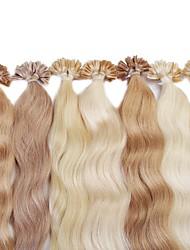 neitsi 20 '' 25g / lot coloré pré clou collé u Astuce fusion extensions de cheveux humains