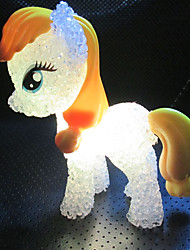 1pcs 5,5 centímetros * 14 centímetros colorido descoloração bonito pônei levou pouco noite ilumina o brinquedo de criança feriado