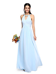 2017 Lanting Bride® Floor-length Georgette Elegant Bridesmaid Dress - A-line Jewel with Beading