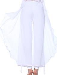 Pantalon de yoga Bas Confortable Haut Vêtements de sport Blanc Femme Sportif Yoga