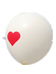 Balloons Holiday Supplies Circular Rubber White For Boys / For Girls 2 to 4 Years / 5 to 7 Years / 8 to 13 Years