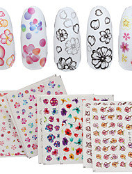 4 Sheet Nail Sticker Art Autocollants de transfert de l'eau Maquillage cosmétique Nail Art Design