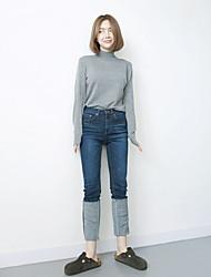 südkoreanisch ausländischen Geschmack ultra-dünne Jeans neue Curling große günstig
