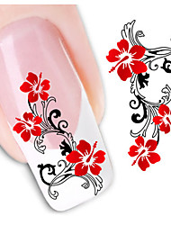 1sheet  Water Transfer Nail Art Sticker Decal XF1441