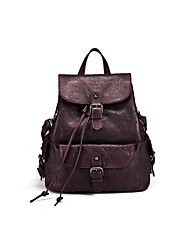 Unisex Cowhide Casual / Office & Career / Shopping Carry-on Bag Burgundy