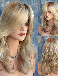 Natural Looking Middle Length Wave Blonde Wig Sexy Dialy Wearing Wig Heat Resistant Cheap High Quality